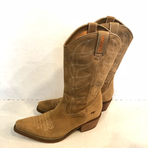 ac8e2329025 ROCKET DOG suede cowgirl boots